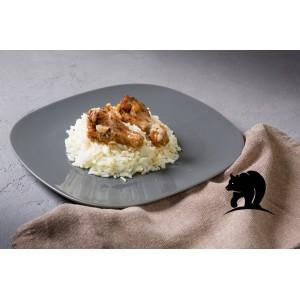 Рис в чесночном соусе